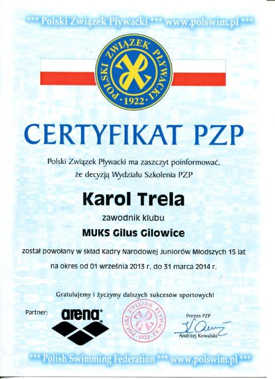 certyfikat Karola